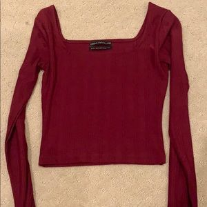 Tight square neck long sleeve